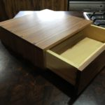 Classic Huon pine drawer inside Tea tree dovetailed box